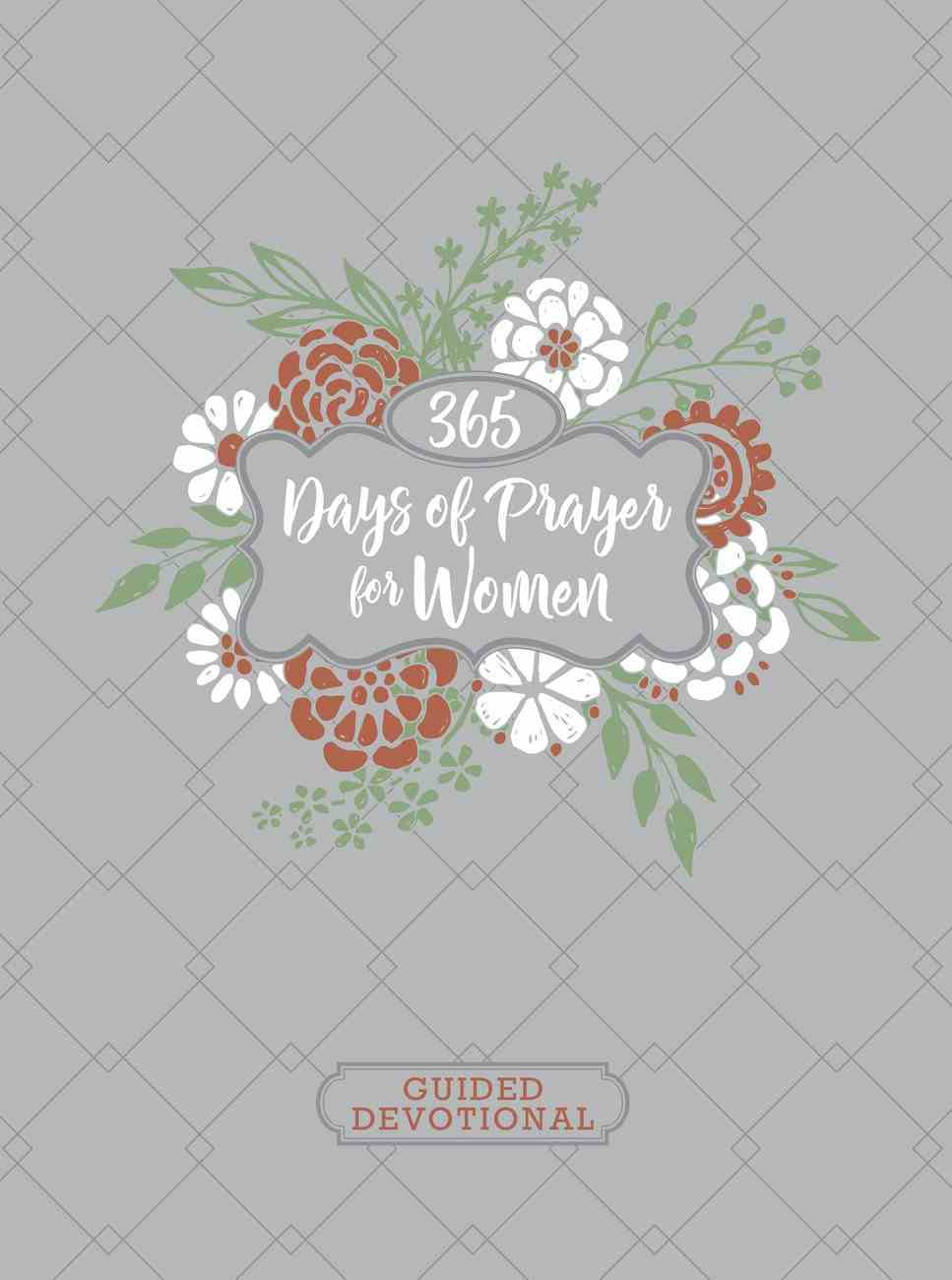 Guided Devotional: 365 Days of Prayer For Women, Ziparound, Gray Quilted Imitation Leather