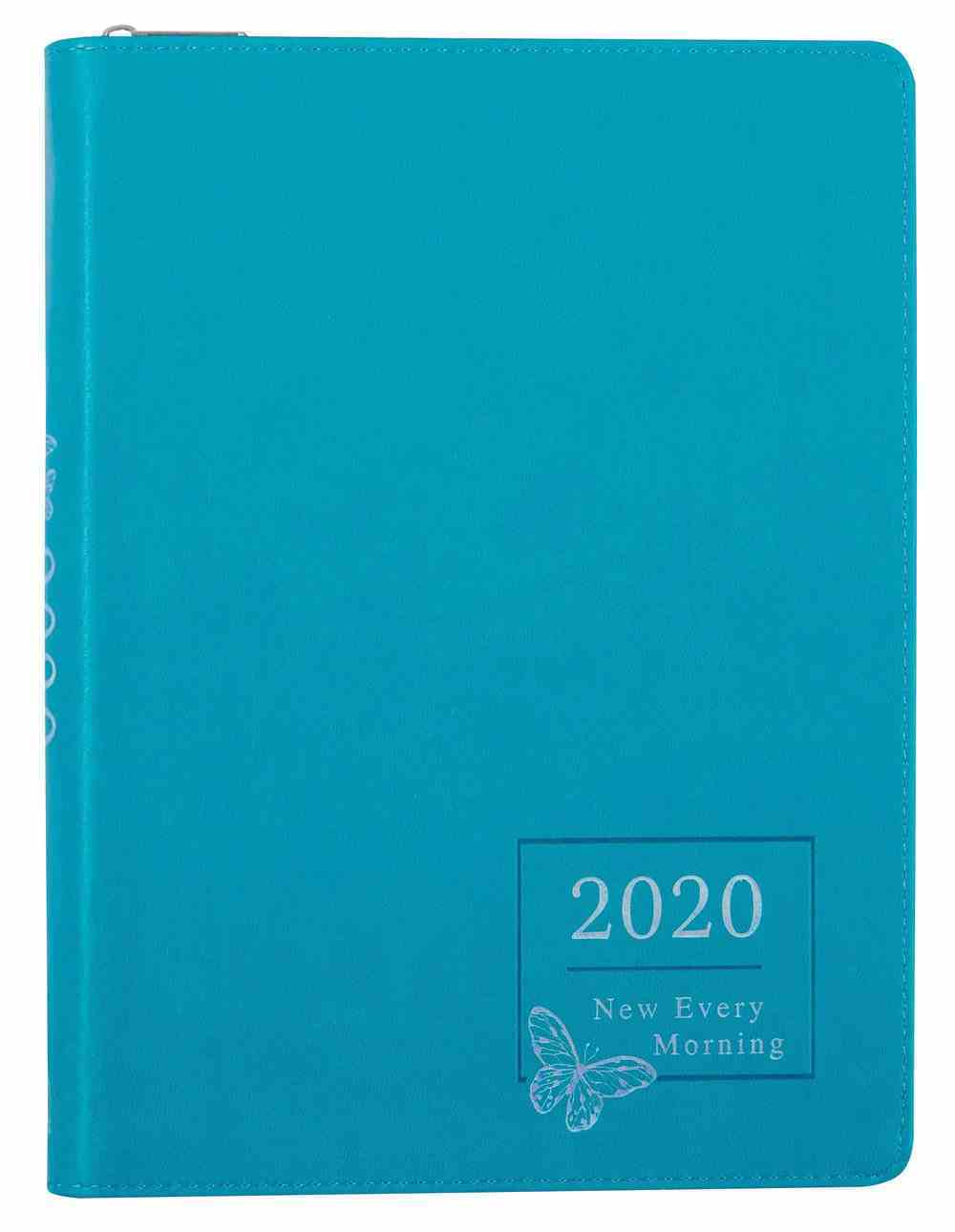 2020 Large 18-Month Diary/Planner: New Every Morning, Teal Imitation Leather