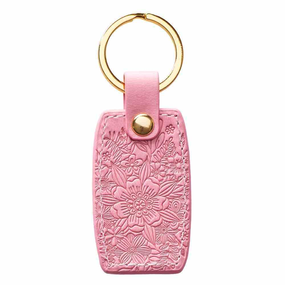 Luxleather Keyring: Plans to Give You Hope and a Future, Peach (Jer 29:11) Jewellery