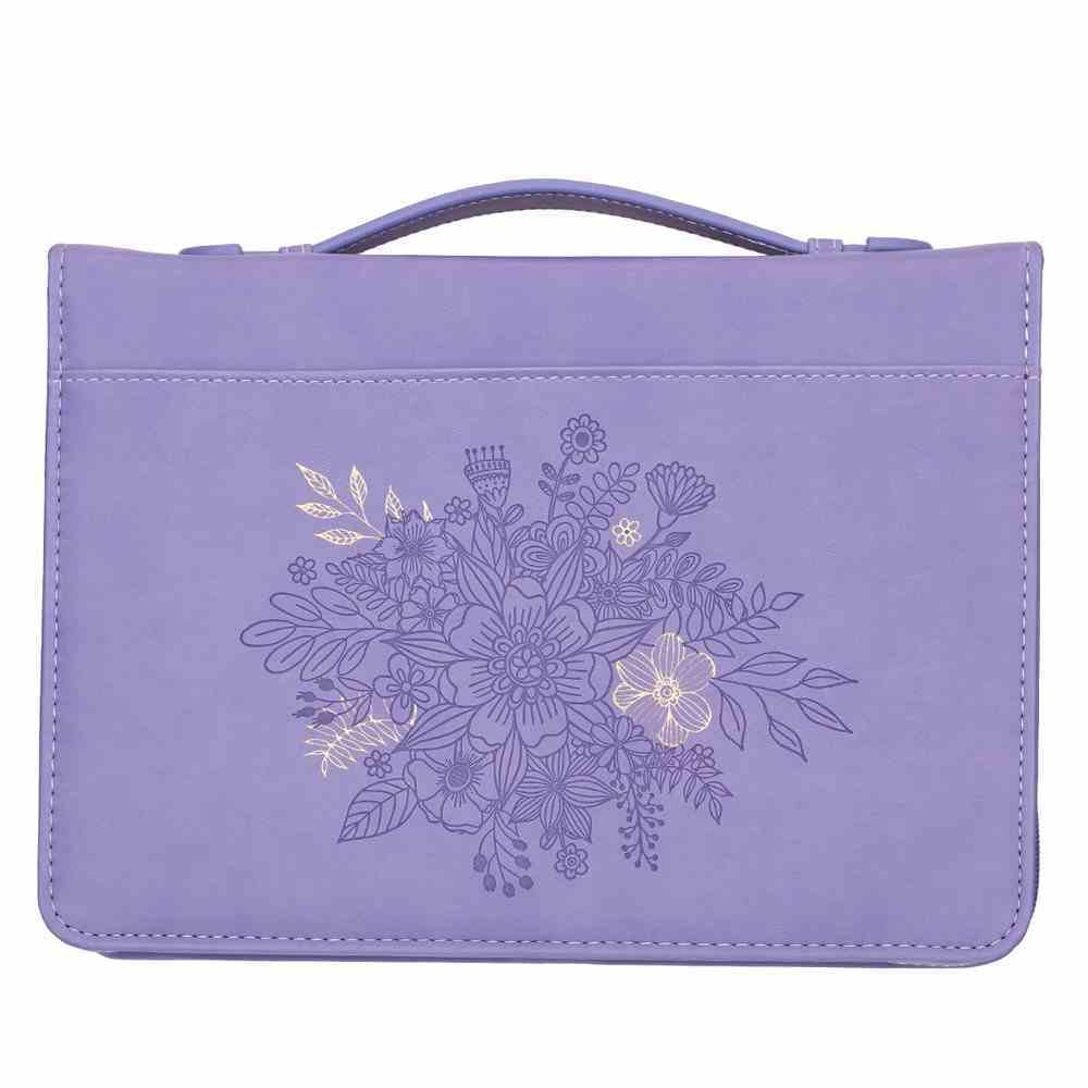 Bible Cover Trendy Large Plans to Give You Hope and a Future, Purple Floral Luxleather (Jer 29: 11) Bible Cover