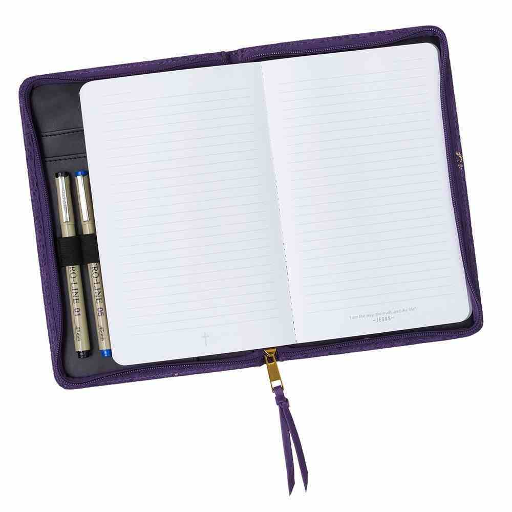 Bible Study Kits: Amazing Grace, Purple/Gold Butterflies Luxleather Folder Pack