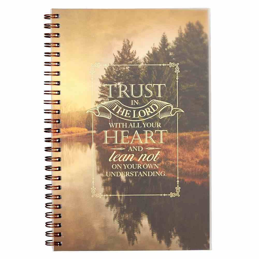 Wirebound Notebook: Trust in the Lord Spiral