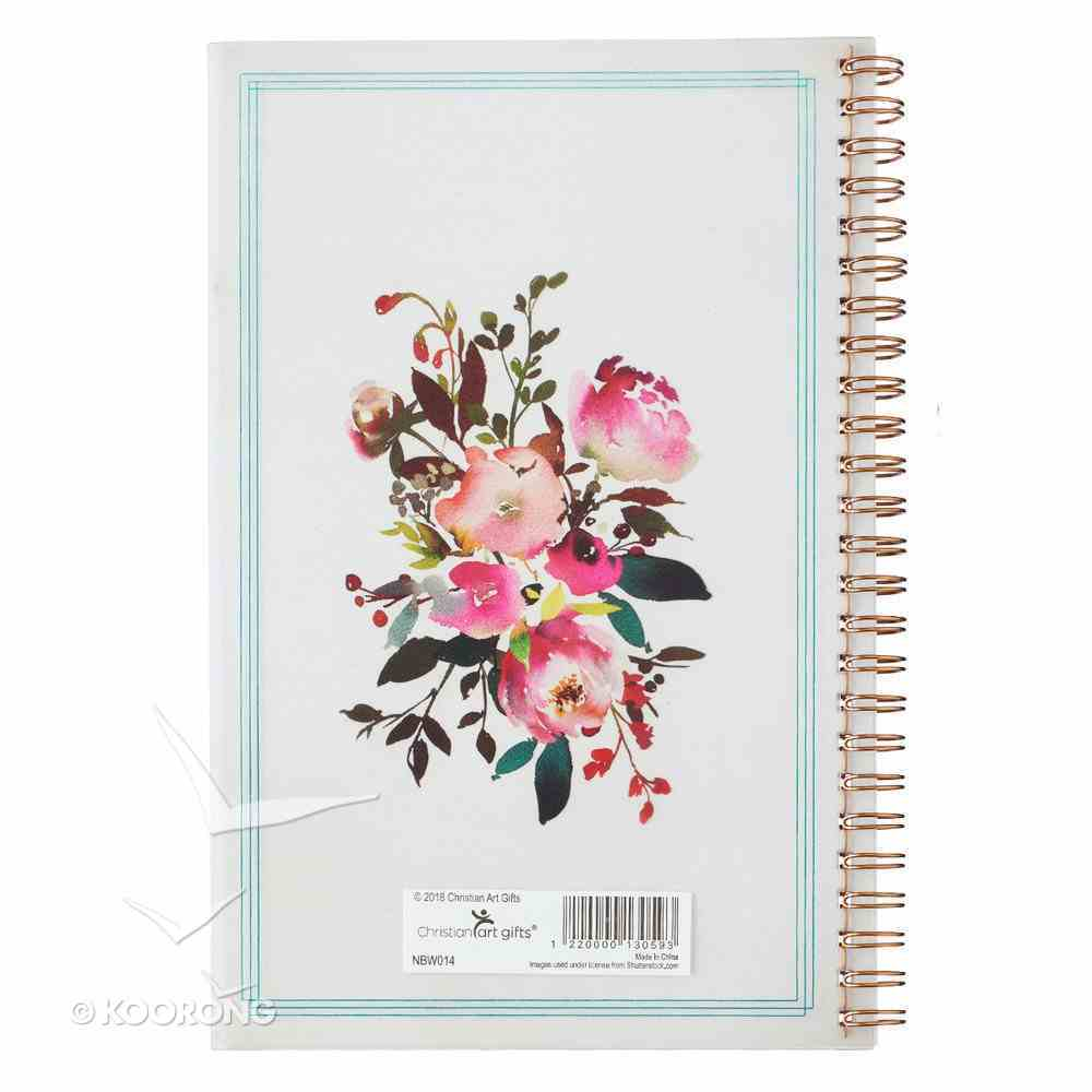Notebook: Love is Patient, Love is Kind, Pink Floral (1 Cor 13) Spiral