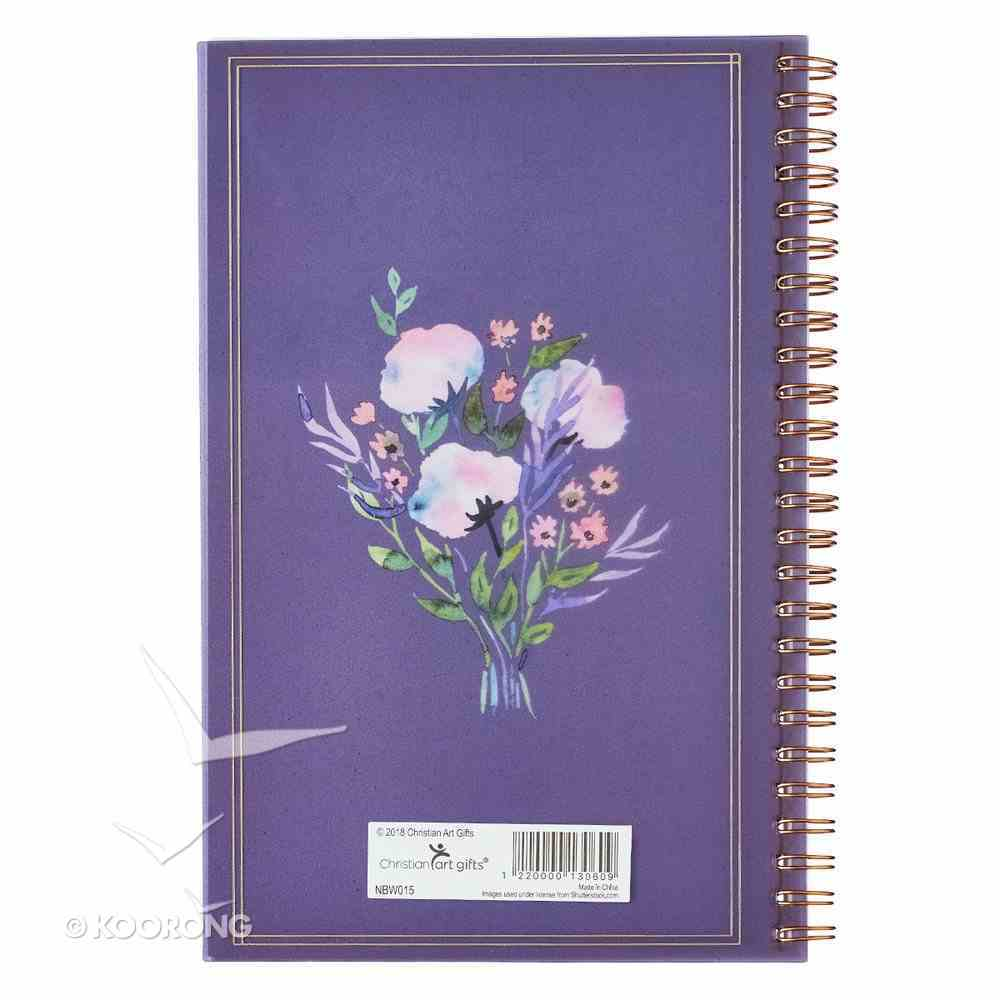 Notebook: Trust in the Lord, Purple Floral Bouquet Spiral