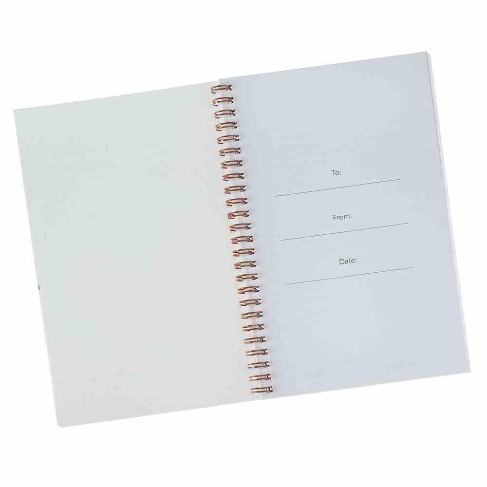 Wirebound Notebook: Ask, Seek, Knock, Pink/Cream/Blue Floral Spiral
