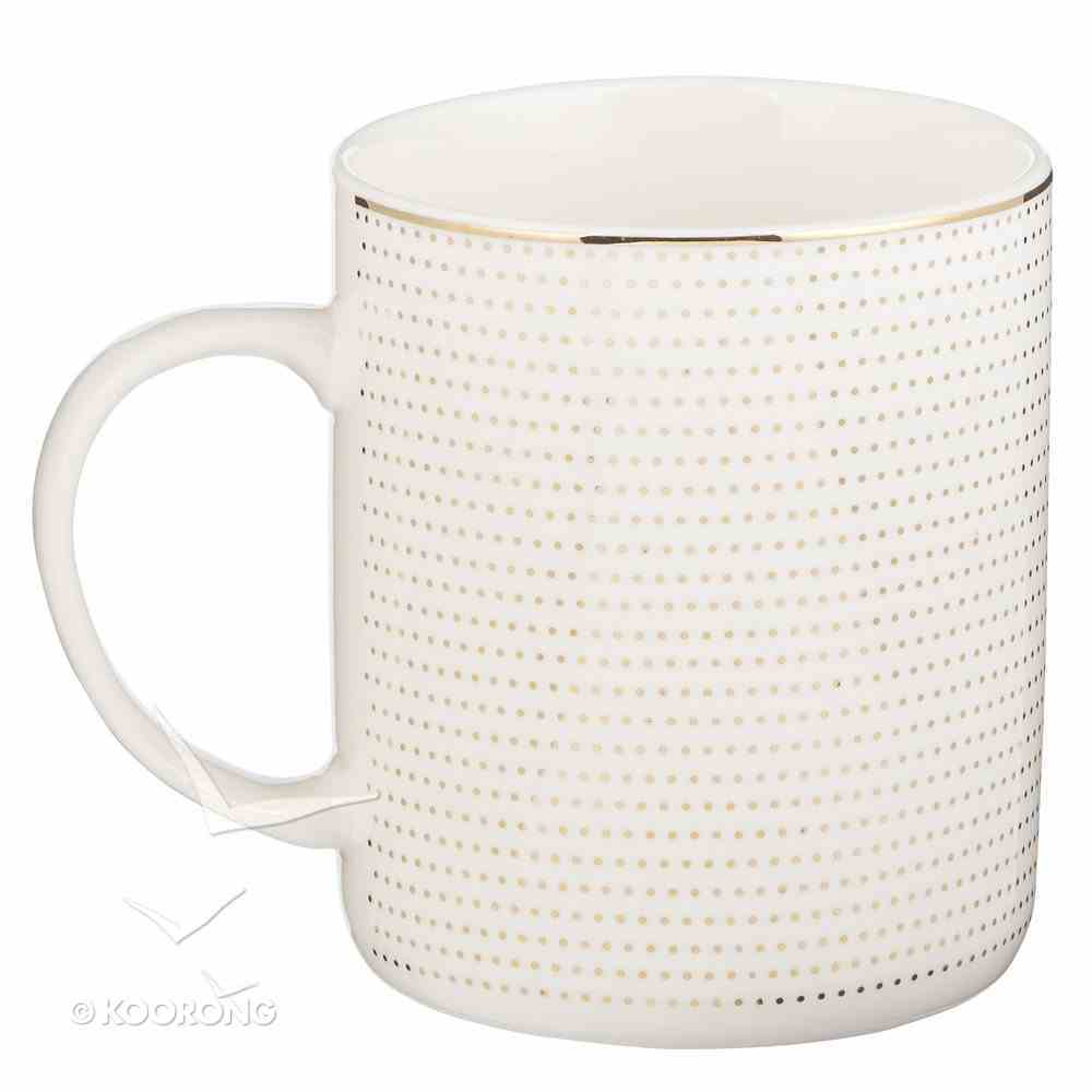 Ceramic Mug: Plans to Give You Hope and a Future, White/Blue/Gold Foiled (Jer 29:11) Homeware