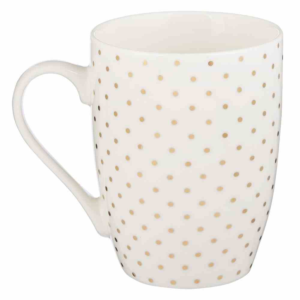 Ceramic Mug: She is Clothed With Strength & Dignity, White/Gold Foiled (Prov 31:25) Homeware