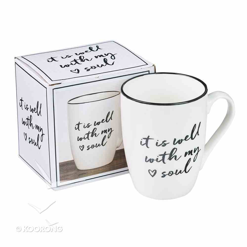 Ceramic Mug: It is Well With My Soul, White/Gold Foiled Homeware