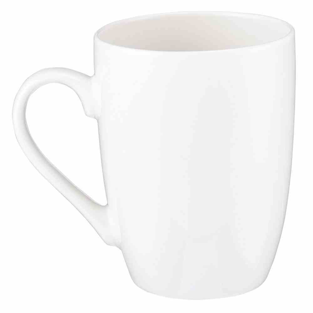 Ceramic Mug: Be Still and Know That I Am God, White/Green Leaves (Psalm 46:10) Homeware
