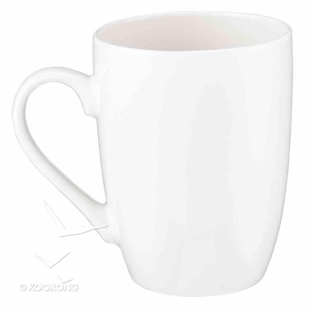 Ceramic Mug: I Can Do All This Through Him Who Gives Me Strength, White/Gold Foiled Homeware
