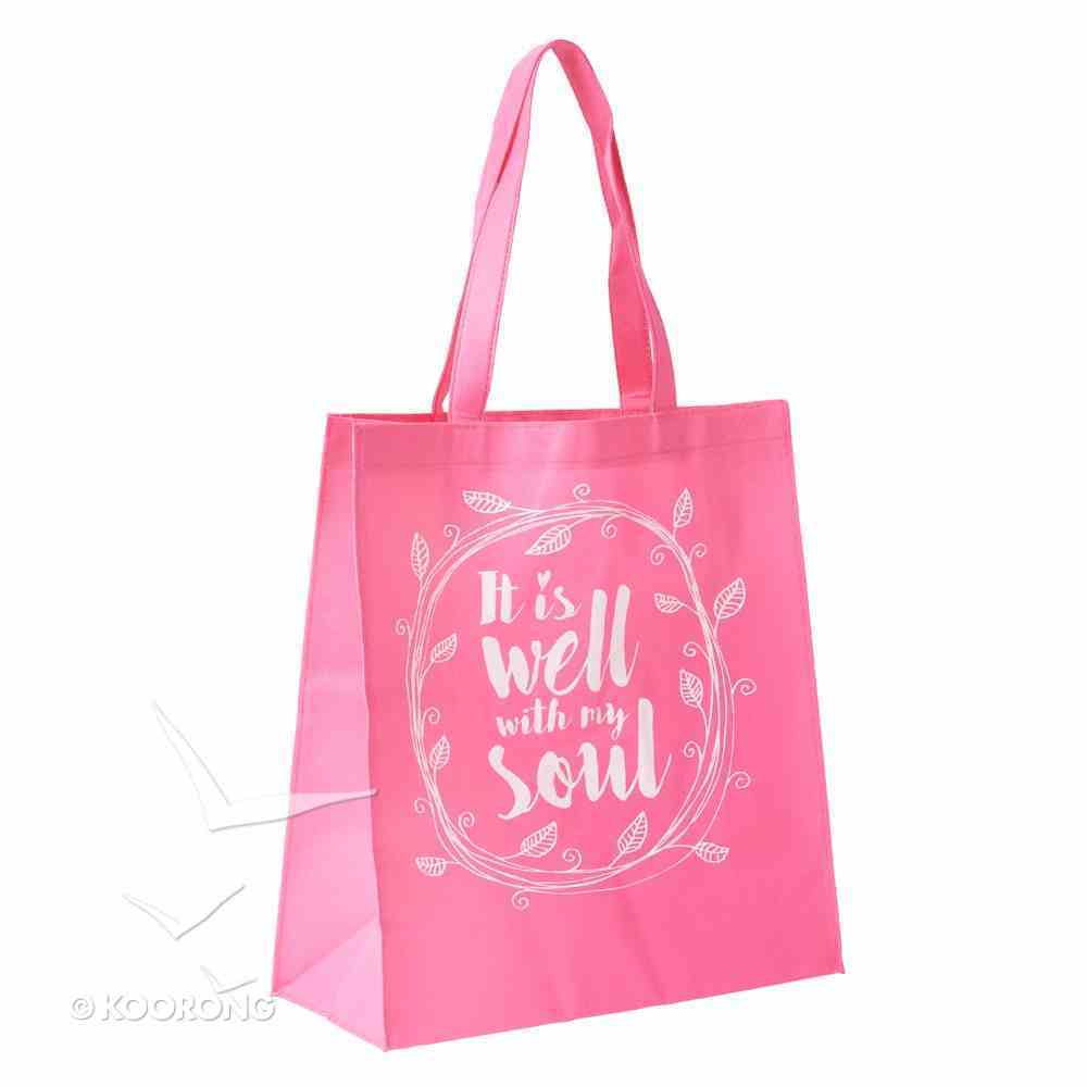Tote Bag: It is Well With My Soul (Bright Pink) Soft Goods