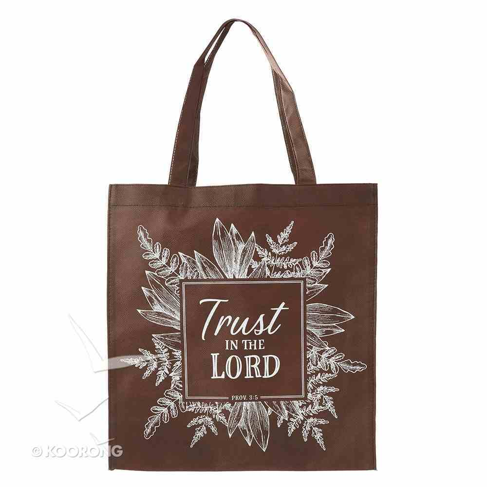 Tote Bag: Trust in the Lord, Brown/White Soft Goods