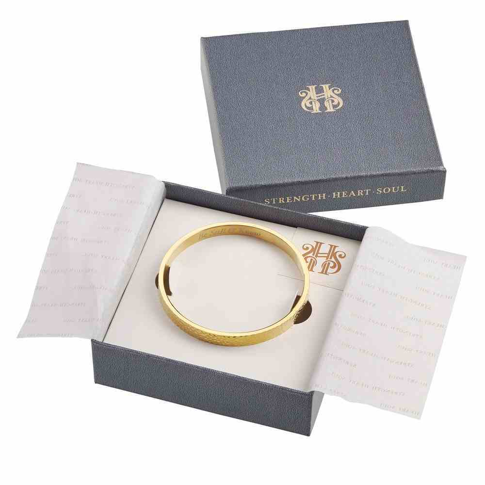Bracelet: Be Still & Know Bangle, 316 Stainless Steel With 14K Gold Plating Jewellery