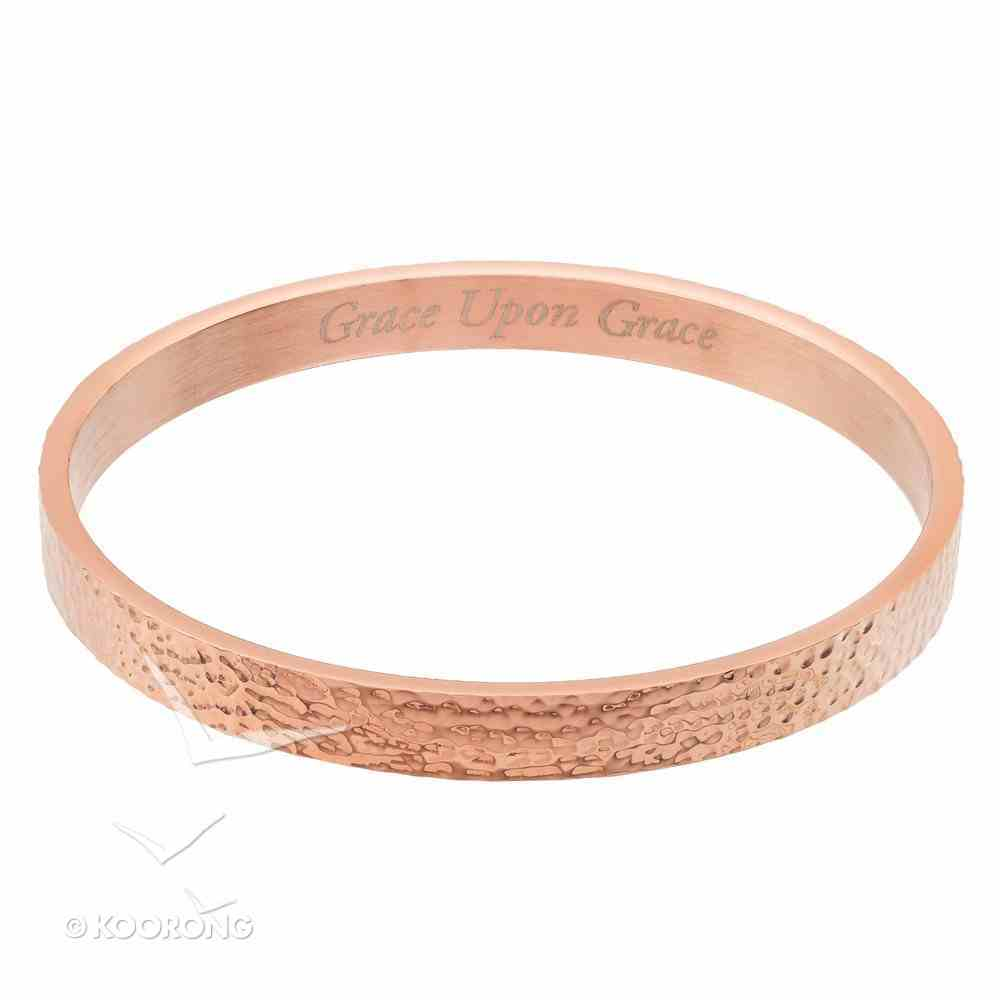 Grace Upon Grace Bangle, 310 Stainless Steel With Rose Gold Plating Jewellery