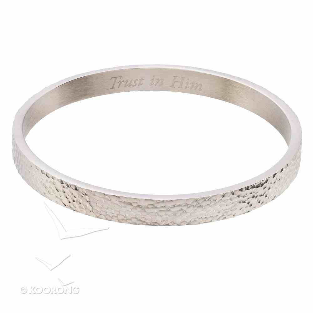Bracelet: Trust in Him Bangle, 316 Stainless Steel With Rhodium Plating Jewellery