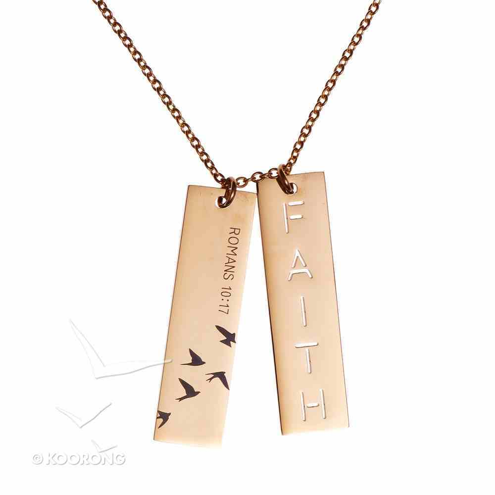 Necklace: Faith Double Bar, 50Cm Chain With 7cm Extender, Lobster Claw Closure Jewellery