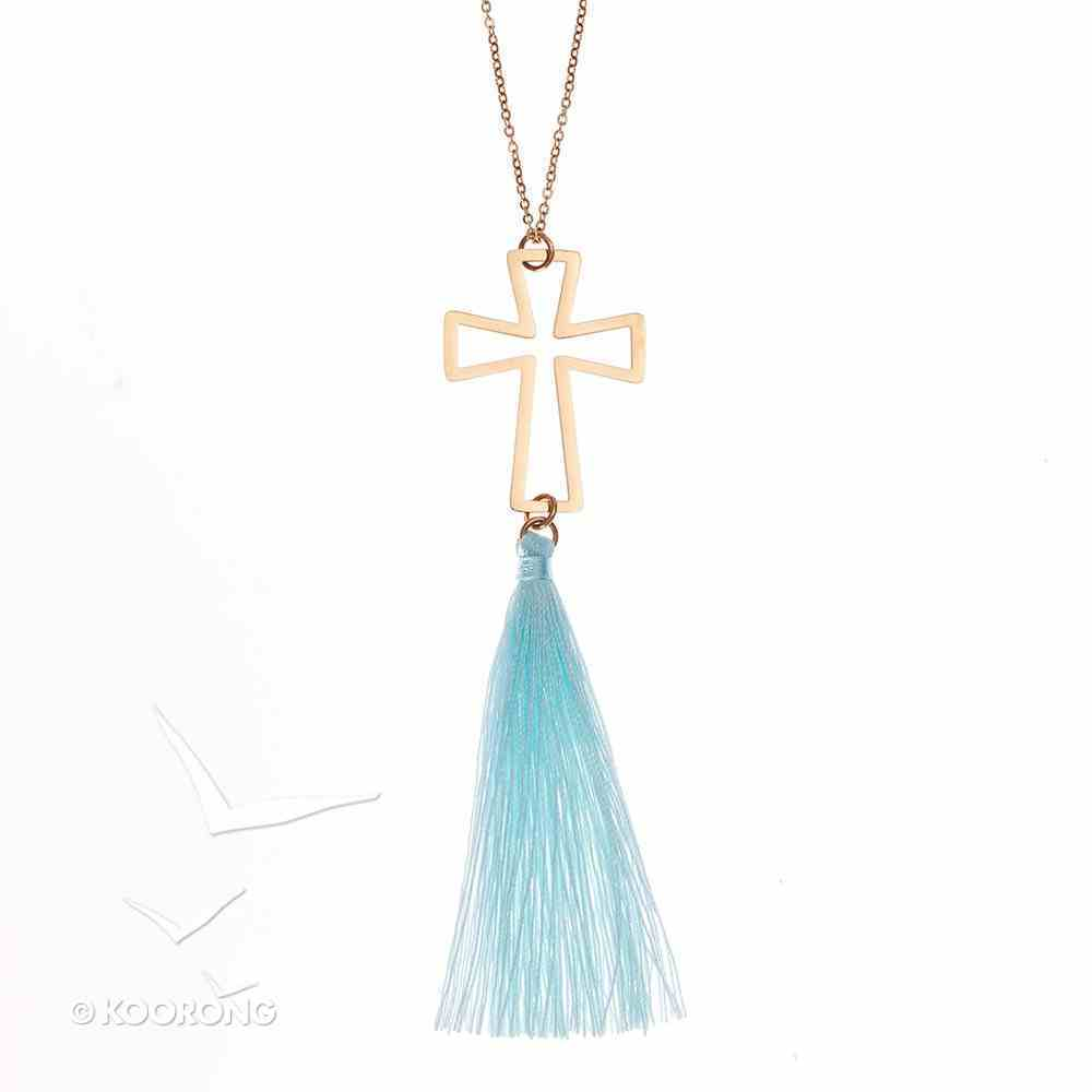 Necklace: Cross With Tassel, 61Cm Chain With 7cm Extender, Lobster Claw Closure Jewellery