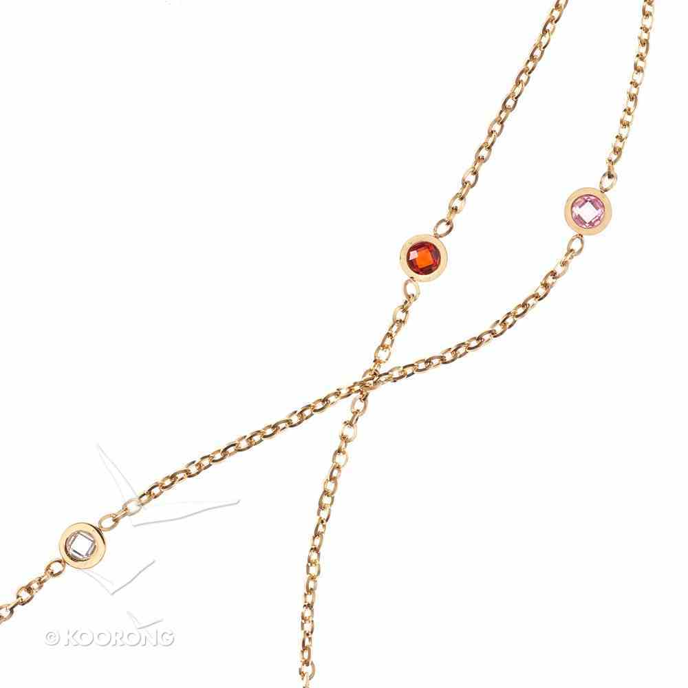 Necklace: Salvation Cubic Zirconia Chain, 61Cm Chain With 7cm Extender, Lobster Claw Closure Jewellery