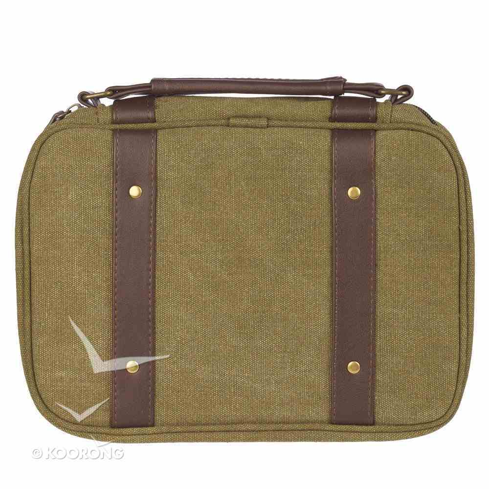 Bible Cover Canvas Medium: Hope & a Future, Olive Green, Carry Handle Bible Cover