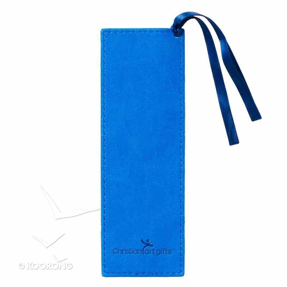Bookmark Luxleather: Trust in the Lord, Blue/Blue Ribbon (Prov 3:5-6) Stationery
