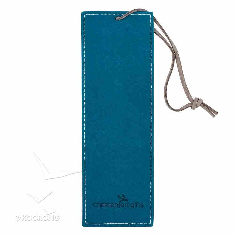 Bookmark: Hope & a Future, Floral/Brown Cord Tassel (Jer 29:11) Imitation Leather
