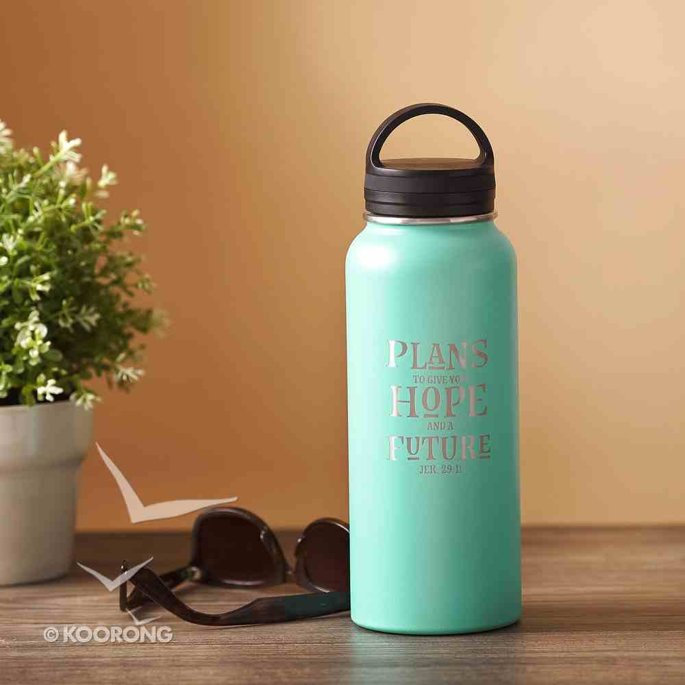 Water Bottle 1000Ml Stainless Steel: Plans to Give You a Hope and Future, Blue (Jer 29:11) Homeware