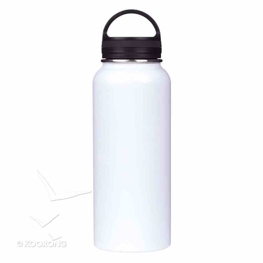 Stainless Steel Water Bottle: Amazing Grace, White/Black (1000ml) Homeware