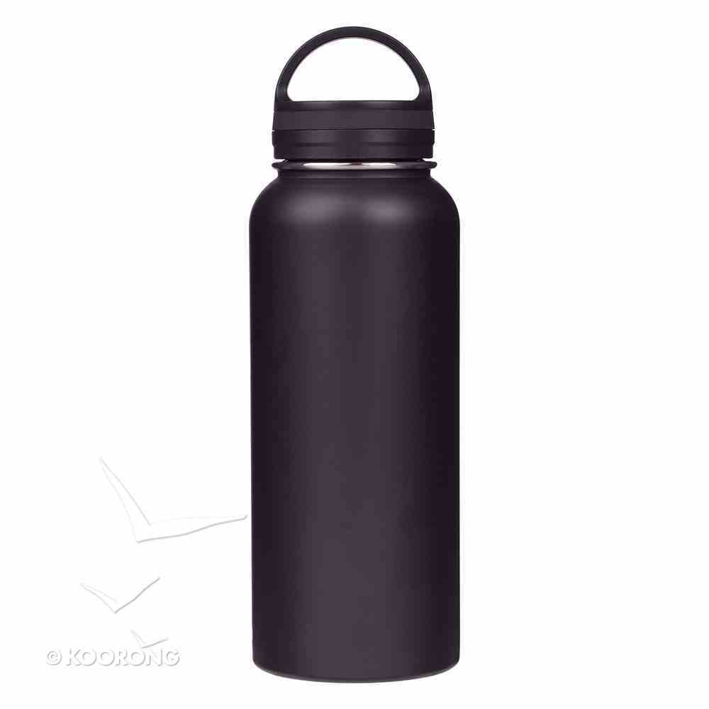 Water Bottle 1000Ml Stainless Steel: Pray, Black (Rev 1) Homeware