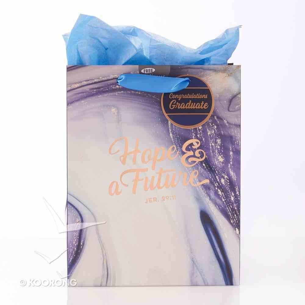 Gift Bag Medium: Graduation - Hope & a Future, Marble (Jeremiah 29:11) Stationery