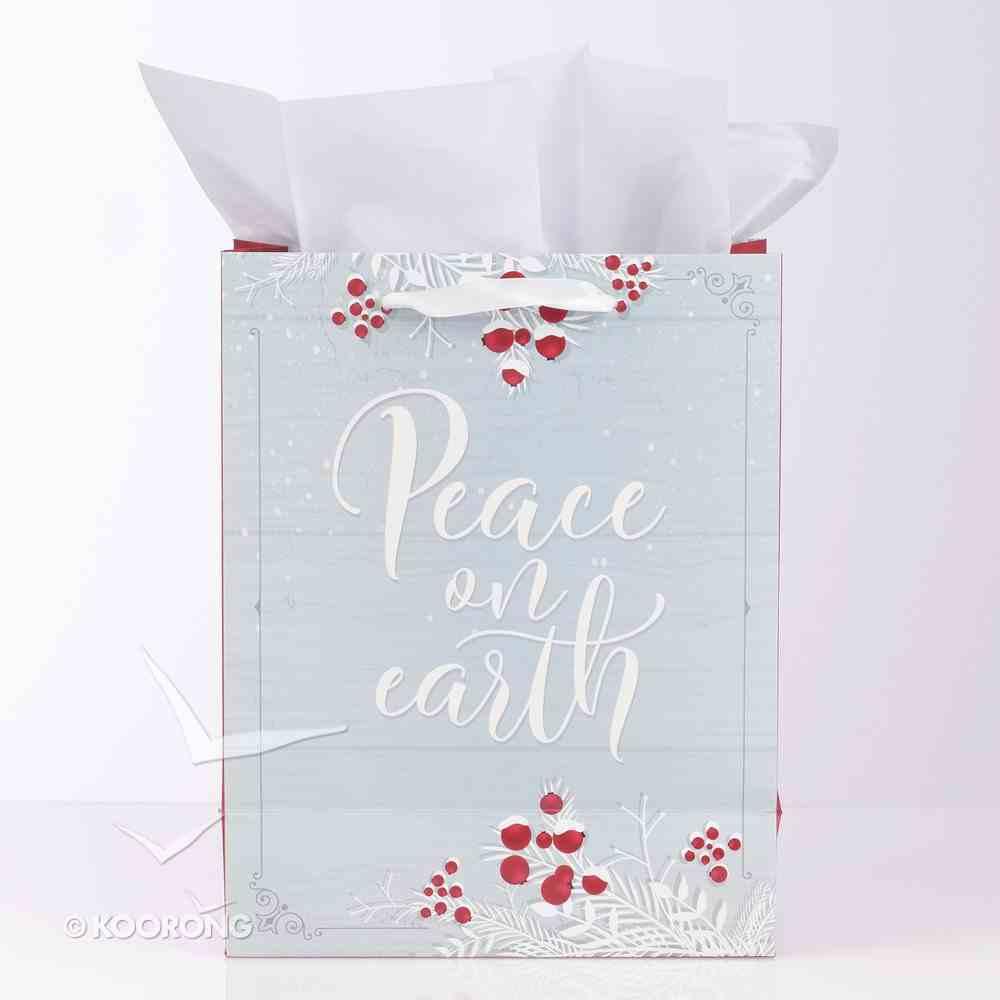 Christmas Gift Bag Medium: Merry Christmas, Peace on Earth Stationery