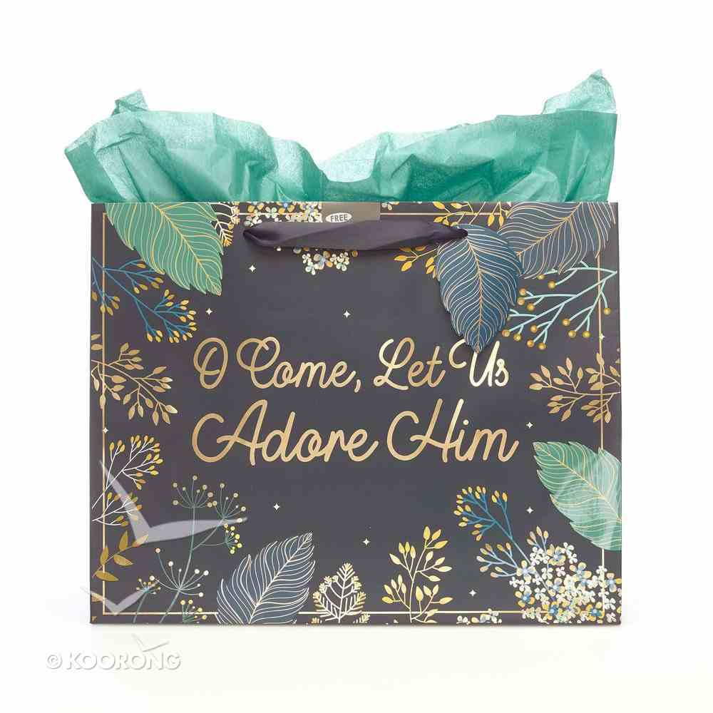 Christmas Gift Bag Large: O Come Let Us Adore Him Stationery
