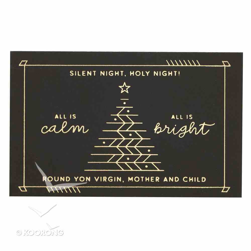 Silent Night, Holy Night , Black/Gold (25 Pack) (Christmas Pass-around Cards Series) Cards