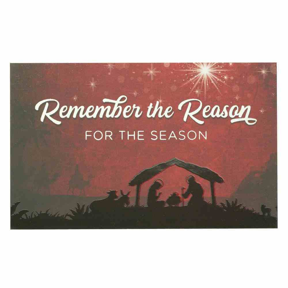 Remember the Reason For the Season , Manger Scene (25 Pack) (Christmas Pass-around Cards Series) Cards