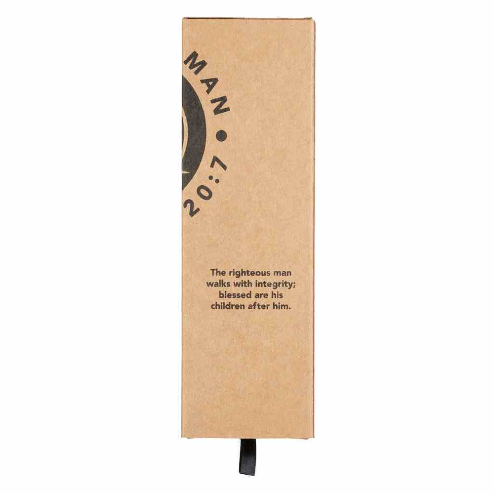 Ballpoint Pen in Box: Righteous Man, Brown/Silver Stationery