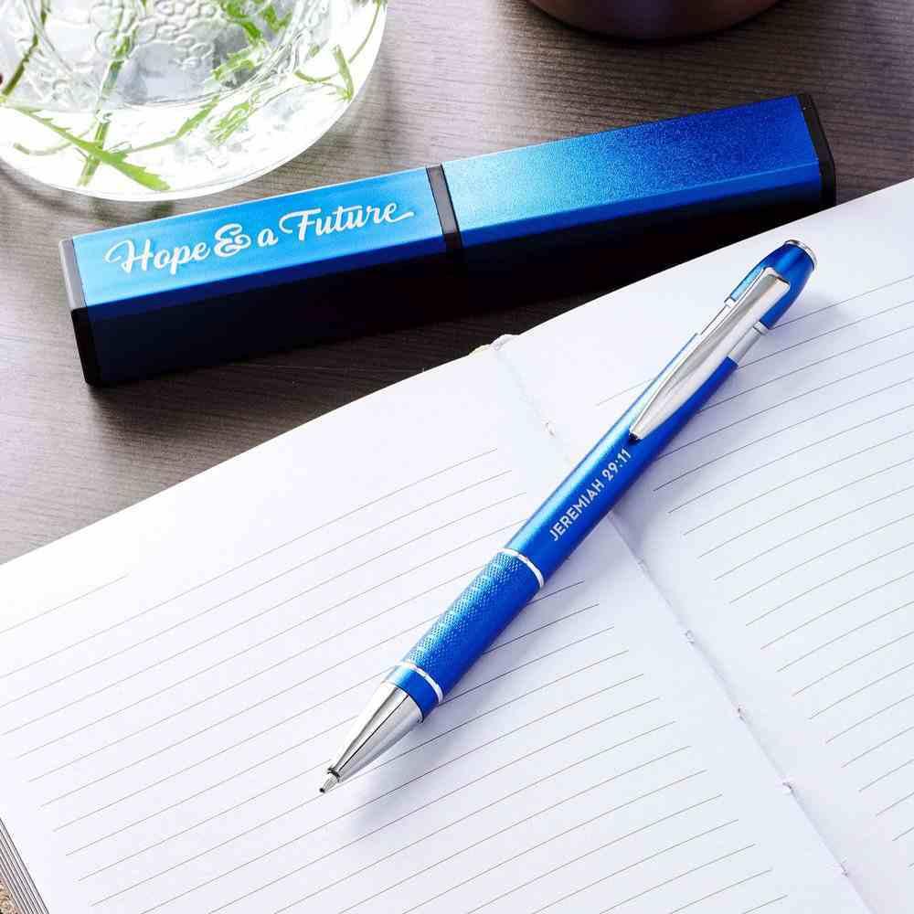 Ballpoint Pen in Square Box: Congratulations Graduate, Blue/Gold (Deut 31:8) Stationery