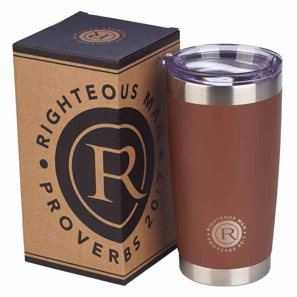 Stainless Steel Mug: Righteous Man, Brown/Silver (Proverbs 20:7) Homeware