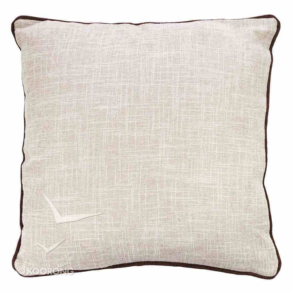 Square Pillow: A Day Hemmed in Prayer... Red Flowers Soft Goods