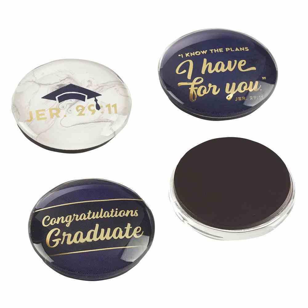 Glass Magnets Set of 4: Graduation Novelty