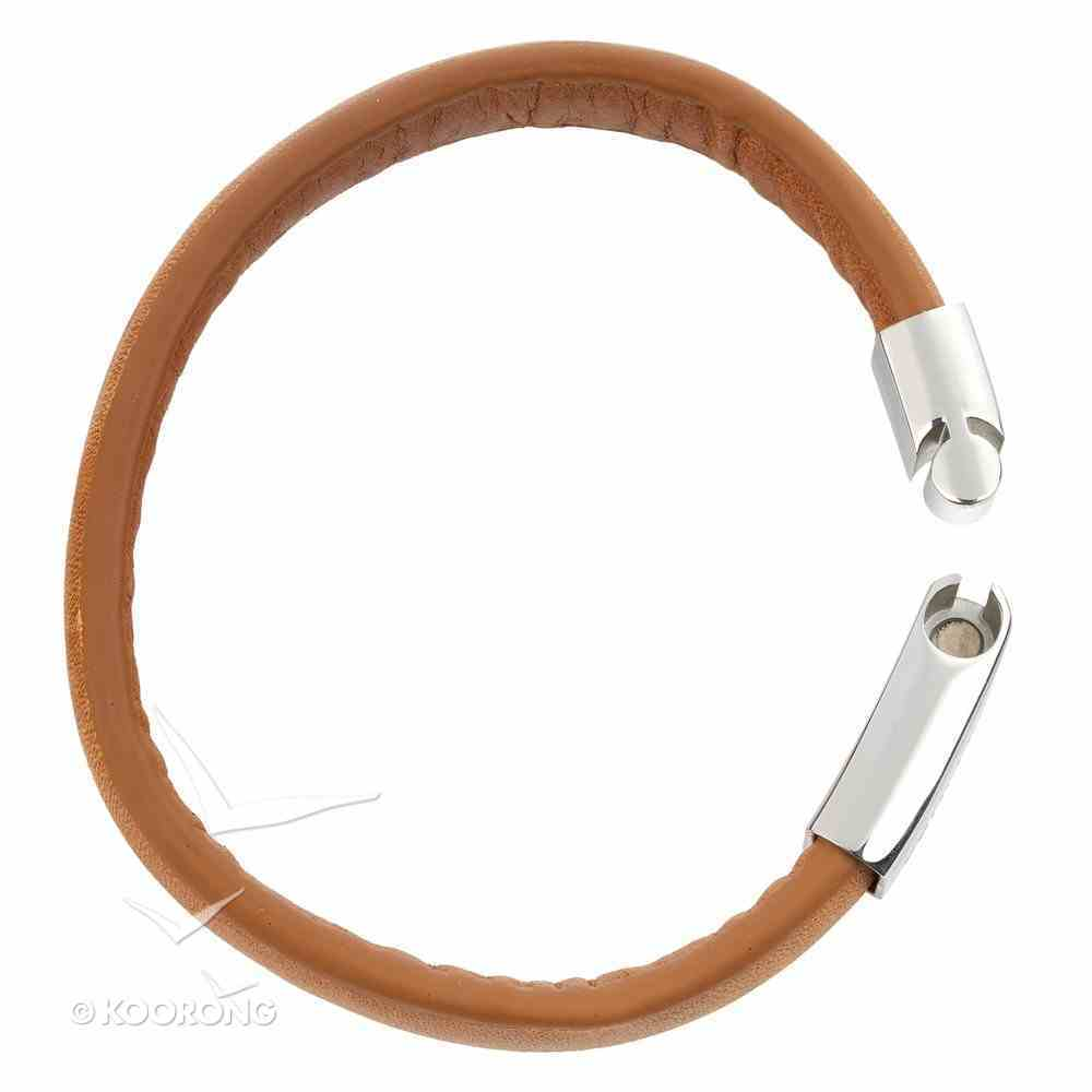 Mens Bracelet: 316 Stainless Steel With Full Grain Leather Strap, Proverbs 20 7 Jewellery