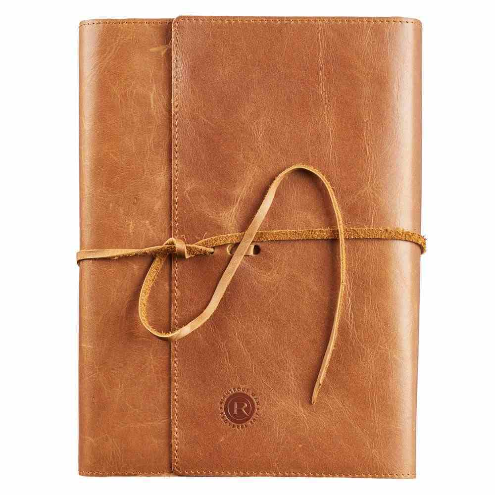 Bible Cover Wrap: Genuine Full Grain Brown Leather, Righteous Man Bible Cover