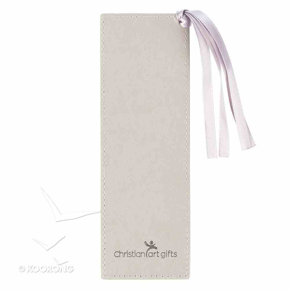 Bookmark With Tassel: Strength & Dignity, Grey/Gold Etching (Proverbs 31:25) Imitation Leather