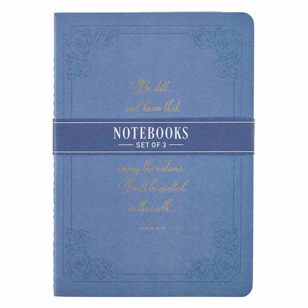 Notebook : Be Still (Ps 46:10) Purple Floral (Set of 3) (Be Still And Know Collection) Paperback
