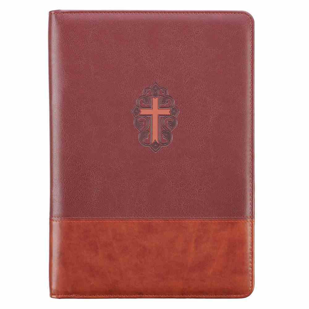 J3: 16  Folder  Cross Brown, Pen and Notepad Included (John 3 16) (John 3 16 Collection) Imitation Leather