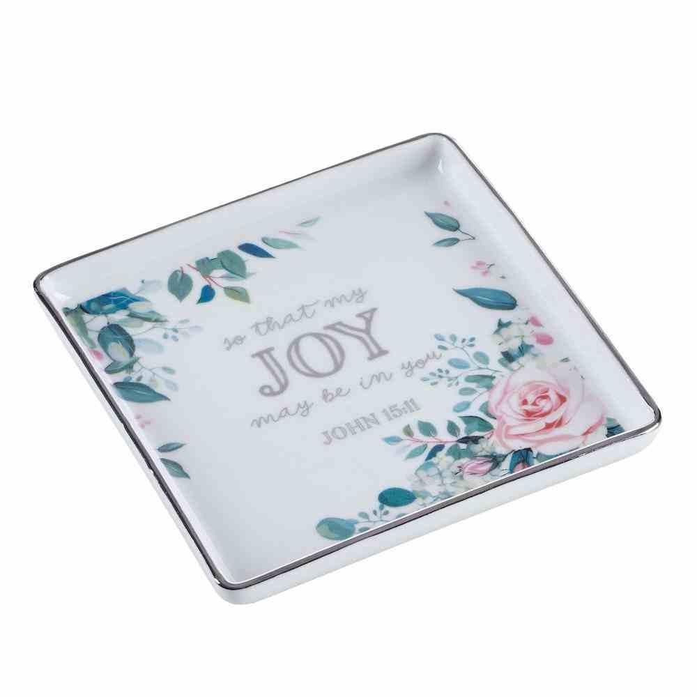 Ceramic Trinket Tray: Joy (John 15:11) (That Joy May Be In You Collection) Homeware