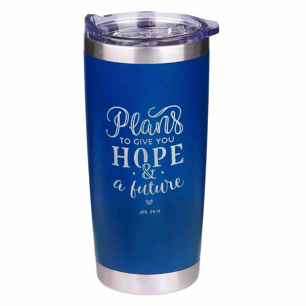 Stainless Steel Mug: Plans For Hope & a Future Navy (Jer 29:11) Homeware