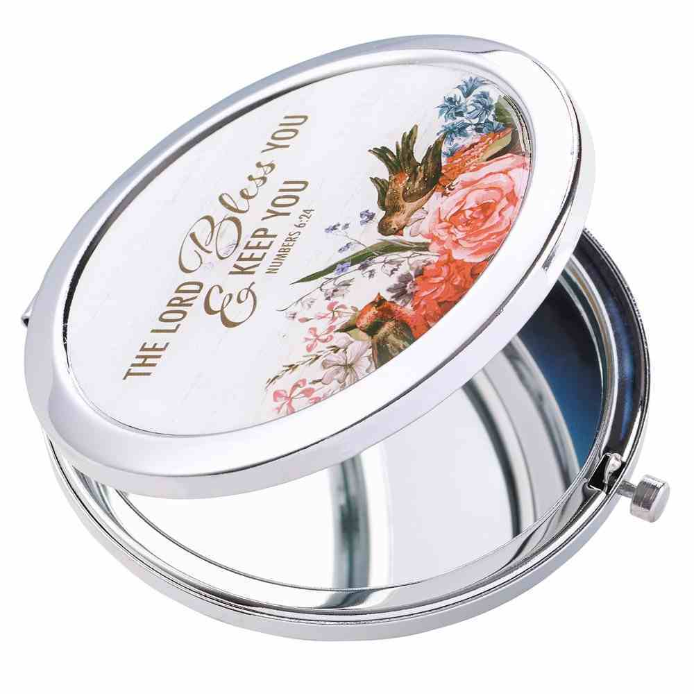 Compact Mirror: The Lord Bless You Floral (Num 6:24) Homeware