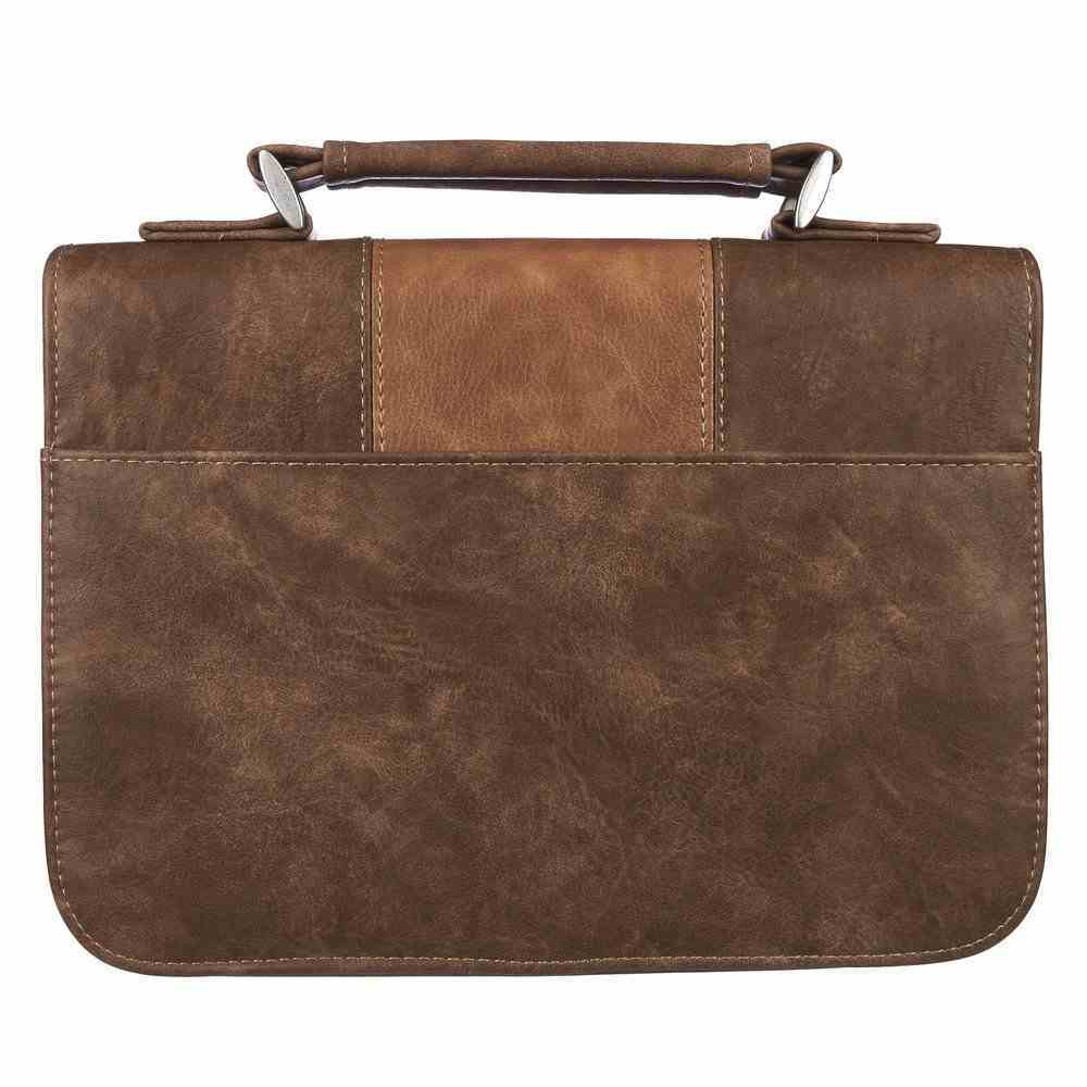 Bible Cover Large: Trust in the Lord Brown (Prov 3:5) Imitation Leather