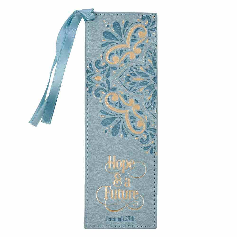 Bookmark With Tassel: Hope & a Future Teal Foil (Jer 29:11) (Hope And A Future Collection) Imitation Leather