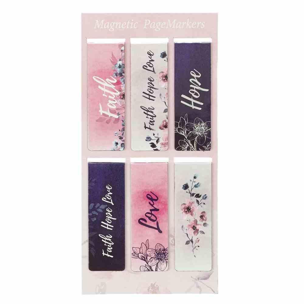 Bookmark Magnetic: Faith Hope Love (Set Of 6) Stationery