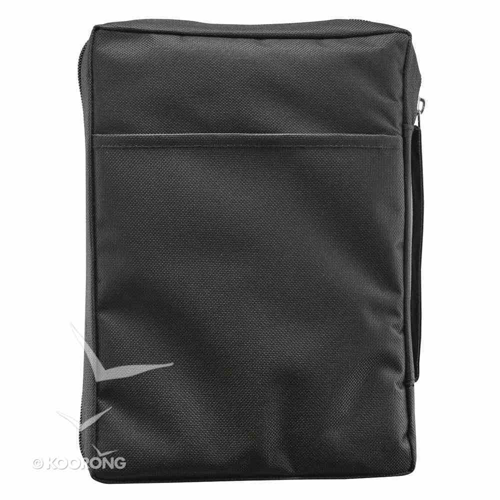 Bible Cover Polyester With Fish Label Black Large Bible Cover
